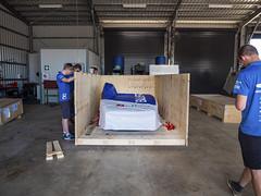 Arriving in Australia (Agoria Solar Team) Tags: solar car team energy agoria cargo bluepoint dhl global forwarding globalforwarding deufol darwin australia bridgestone world challenge bwsc bwsc2019 2019