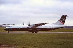 G-BVTJ ATR72 British airways CVT 28-12-94 (cvtperson) Tags: gbvtj atr72 british airways coventry airport cvt egbe