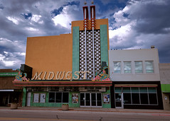 The Midwest (Marion Brite) Tags: nebraska downtown theater movie palace cinema film hollywood old sky midwest neon sign marquee mcm midcenturymodern