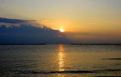 IMG_0050y (gzammarchi) Tags: italia paesaggio natura mare ravenna lidoadriano alba sole riflesso nuvola