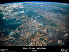 Mato Grosso Wildfires - Brazil (RikyUnreal) Tags: iss expedition60 amazon