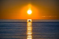 First Light Fishermen (KWPashuk (Thanks for >3M views)) Tags: nikon d7200 tamron tamron18400mm lightroom luminar luminar2018 luminar3 luminar31 kwpashuk kevinpashuk water morning sunrise sun reflection boat fishermen outdoors halo bronte beach park oakville ontario canada