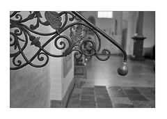 Iron work - Aarhus Cathedral (K.Pihl) Tags: leicam5 35mmsummiluxf14 monochrome analog blackwhite pellicolaanalogica schwarzweiss ironwork bw film aarhuscathedral