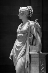 Holding onto the Memory (BenBuildsLego) Tags: black white marble sculpture canova beautiful art museum cleveland ohio neoclassical classical harp muse goddess greek roman telephoto sony a6000 statue skulptur sculptor sculptures artistic