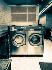 My Beautiful Laundrette (Livesurfcams) Tags: laundrette devon chrome apple iphone retro timeold classic washer dryer spin