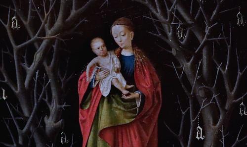 IMG_3141S Petrus Christus 1410-1476 Bruges  La Vierge de l'Arbre Sec The Virgin of the Dry Tree 1465 Madrid Thyssen-Bornemisza.