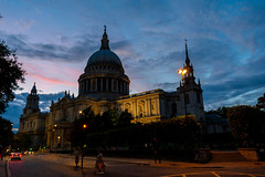 Wren's masterpiece (jeremyhughes) Tags: london stpauls cathedral stpaulscathedral church sunset sky clouds city religion evening gloaming nikon d700 nikkor wideangle 28300mmf3556 architecture dome baroque christopherwren night