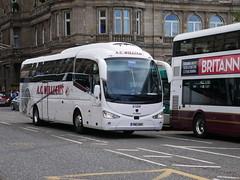 AC Williams of Ancaster YN17OOX Scania K360iB4 Irizar i6 YN17OOX at Princes Street, Edinburgh, on 29 August 2019. (Robin Dickson 1) Tags: irizari6 busesedinburgh scaniak360ib4 yn17oox acwilliamsofancaster
