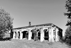 guardhouse (Zunkkis) Tags: guardhouse vyborg russia ruin bw