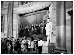 James A. Garfield and Visitors (Bob Shrader) Tags: olympuspenf olympusm12100mmf40 17mm f11 160sec 6400iso raw microfourthirds mft m43 mirrorless penf zoomlens olympusmzuikodigitaled12100mmf40ispro mzuiko12100mmf40ispro olympusmzd12100mmf40ispro interior wideshot skylum luminar3 tonalityck filmemulation kodak32panatomicx sculpture statue jamesagarfield architecture structure building government uscapitol nationalstatuaryhall northamerica unitedstatesofamerica america us unitedstates usa washingtondc districtofcolumbia photoline fauxfilm bwnegativefilm monochrome monotone photoborder photoedge photoframe postprocessing preset