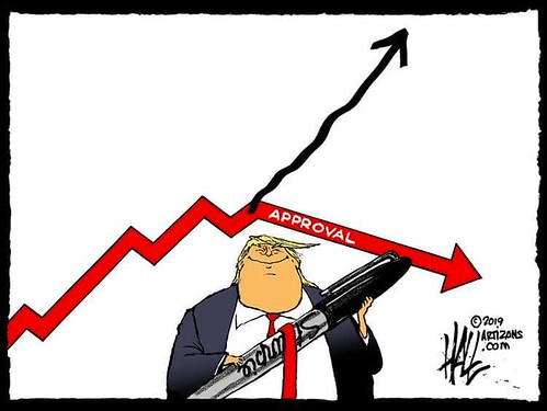 Sharpie Trump approval (and the red line for the death rate according to Trump.  After all, as we know, he is now the nation's Chief Medical Officer.), From FlickrPhotos