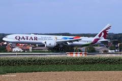 20190906_A7-BAX (sn_bigbirdy) Tags: ebbr bru qatarairways boeing b777 b777300er fifa landing brusselsairport zaventem 25l a7bax logojet euro2020