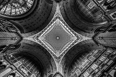 cathedral for travelers (Blende1.8) Tags: ceiling dome kuppel antwerpencentraal antwerp antwerpen centraal trainstation bahnhof historic architecture old symmetry symmetrie wideangle sel1224g mono monochrome monochrom blackandwhite schwarzweis sw geometry sony alpha ilce7m3 a7m3 a7iii carstenheyer belgium belgien europe oldeuropa