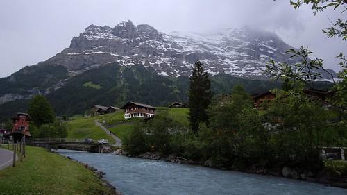 Village in the mountains. Grindelwald, Switzerland