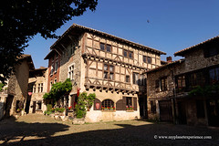 Pérouges, France (My Planet Experience) Tags: perouges medieval middleages village old halftimbered house walled stone pebble rhonealpes ain f france myplanetexperience wwwmyplanetexperiencecom