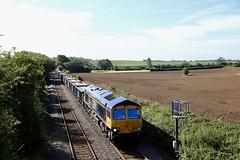 66741 Dinnington Jn 05 Sep 19 (doughnut14) Tags: 66741 rail freight diesel loco cum gypsum mja cottam hull syj dinnington shed class66 swanage 6d16 cramfit anston