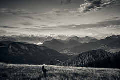 MoMoMo - or: Mountain Morning Mood (iamunclefester) Tags: fockenstein tegernsee badwiessee aueralm mangfall mangfallgebirge alps bavarianprealps bavaria sun sunrise rocks rock hiking outlook lookout vista mountains mountain mountaintop clouds cloud cloudy cloudscape trees forest panorama monochrome toned summit one bella bellavista grass windy mountainrange mountainchain classic tour sunday sunrisehike early morning horizon wind cold blackandwhite tree vastness valley mountainmorningmood sunny layer layers lowsun