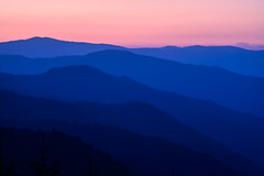 Great Smoky Mountains, Tennessee (jonasfj) Tags: nikonz7 nikon z7 tamron7020028g2 70200 200mm smokeymountains tennessee te usa nature landscape abstract graphic bluehour morning beforesunrise silhouette silhouettes mountains pine pinetree mist sky colors blue pink red layers tones mirrorless tele tamron ftz adapter twilight nationalpark blueridgemountains blueridge sunrise greatsmokymountains