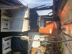 Castle Ruins (Milepost98) Tags: ni northern ireland irish scrap scrapyard breakers yard ahoghill withdrawn derelict scrapped translink 455 8455 galgorm castle power car 450 class brel railcar demu thumper nir railways railway 4srkt