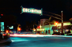 Encinitas (MbopPhotos) Tags: encinitas california san diego night city sign lights cinestill film long exposure