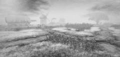 Truly (Loegan Magic) Tags: secondlife landscape blackandwhite nature vintage paths trees sky bridge grass flowers