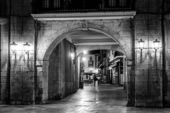 El arco del Ayuntamiento (ccc.39) Tags: asturias oviedo noche nocturna calle arco arquitectura ciudad blancoynegro byn blackandwhite bw night street city urban