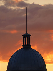 Dome at sunset (DaveKav) Tags: sunset dusk silhouette spire montreal quebec canada bonsecoursmarket bonsecours market