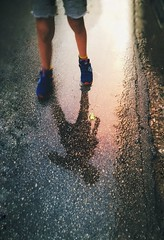 💙☔ (PattyK.) Tags: ioannina giannena rain rainyday boy wetreflections reflection autumn greece βροχή αγόρι ιωάννινα ελλάδα
