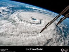 Hurricane Dorian (RikyUnreal) Tags: expedition60 iss usa