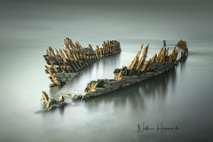Wreck on the Swale! (Nathan J Hammonds) Tags: long exposure wreck boat swale uk kent tide history colour nikon lee nd filter filters minimal fine art photography