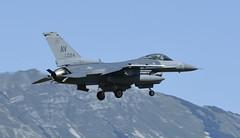 "F-16CM AV 89-2024, 555th Fighter Squadron ""Triple Nickel"" Aviano AFB, Italy (TAIRNGREACHT_BAS) Tags: usaf f16c block40 viper aviano"