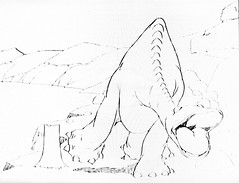 Gertie The Dinosaur by Winsor McCay 0403 (Brechtbug) Tags: gertie the dinosaur by winsor mccay cartoonist animator brontosaurus new york city 2019 nyc prehistoric monster lizard creature downtown east village like animation green very much sinclair oil gas station logo from 1960s 1970s