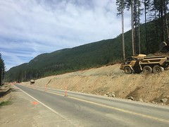Passing Lane work on Highway 19 (TranBC) Tags: sayward highway19 passinglane campbellriver robertslake vancouverisland highway roadwork construction