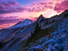Baker Sunset Along Ptarmigan Ridge (www.mikereidphotography.com) Tags: ptarmiganridge sunset baker shuksan northcascades gfx50s