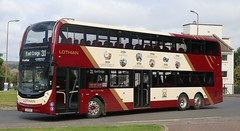 Nearside view of Lothian City 1125 SJ19OZD working on route 31 at East Craigs Centre terminus in the Edinburgh suburbs . (Gobbiner) Tags: 1125 enviro400xlb eastcraigscentre adl b8l volvo 100yrs19192019 edinburgh lothiancity sj19ozd lothianbuses