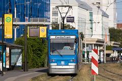 CarGoTram, Dresden (rengawfalo) Tags: cargo cargotram tram strasenbahn güter güterstrasenbahn vw gläsernemanufaktur dresden sachsen saxony dvbag tramway train railroad bahn tranvia tramvaj elektricka öpnv tramwaj sporvogn road car city urbanrail