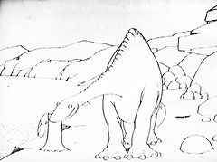 Gertie The Dinosaur by Winsor McCay 0399 (Brechtbug) Tags: gertie the dinosaur by winsor mccay cartoonist animator brontosaurus new york city 2019 nyc prehistoric monster lizard creature downtown east village like animation green very much sinclair oil gas station logo from 1960s 1970s