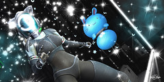 #109 - Space CatGirL (Yvain Vayandar) Tags: gimmegachaproductions imaginarium event secondlife sl play gacha win rare commons space future cyber fashion cat helmet toy pet elemental fallengodsinc cyberfactory tardfish reveobscura bh9