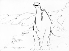 Gertie The Dinosaur by Winsor McCay 0413 (Brechtbug) Tags: gertie the dinosaur by winsor mccay cartoonist animator brontosaurus new york city 2019 nyc prehistoric monster lizard creature downtown east village like animation green very much sinclair oil gas station logo from 1960s 1970s