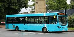 Arriva Midlands 3780 FL63DXM leaving Stafford with a Telford service. (Gobbiner) Tags: arrivamidlands fl63dxm stafford vdlsb200l wrightbus telford pulsar 3780 arrivabuscouk