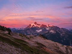 Mount Shuksan Alpenglow (www.mikereidphotography.com) Tags: baker ptarmiganridge hiking gfx50s sunset shuksan clouds northcascades