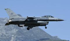 "F-16CM AV 89-2023, 555th Fighter Squadron ""Triple Nickel"" Aviano AFB, Italy (TAIRNGREACHT_BAS) Tags: usaf f16c block40 viper aviano"