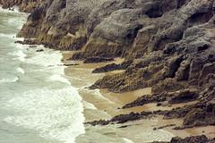 Gower Shore (Bas Tempelman) Tags: gower peninsula wales united kingdom shore sea rocks stones cliffs bristol channel kodak portra 160 nikon f801s coast port eynon strand beach