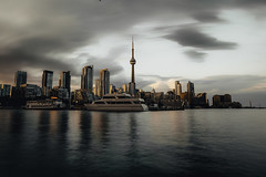 Landscape Toronto (touann1) Tags: travel canadian evening district sunset canada night water landscape skyscraper waterfront urban tower metropolis downtown business colorful architecture lights cityscape office skyline view twilight modern panoramic sky ontario building scenic