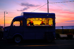 And remember you're in France: The customer is always wrong! (Livesurfcams) Tags: citroenhvvan devon fuji fujifilm xpro1 35mm f14 sunset food streetfood candid westwardho