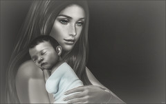 *Never miss the opportunity to tell your child I love you* ❤️ (Ⓐⓝⓖⓔⓛ (Angeleyes Roxley)) Tags: black bantam welcome home baby blanket balloon hold hud skin tones sl secondlife bracelet arcade event mainstore mesh interactive
