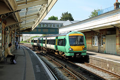 171728 Lewes (CD Sansome) Tags: station train southern rail tsgn gtr govia thameslink railway lewes turbostar 171 171728 east coastway line