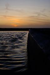Outdoor Pool at sunset (Livesurfcams) Tags: devon westwardho pool outdoorpool fuji fujifilm 35mm f14mm xpro1