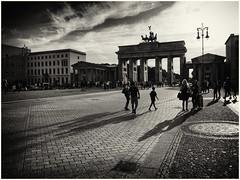 One more of the Brandenburg Gate Gate (Sally E J Hunter) Tags: germany deutschland berlin brandenburggate carlgotthardlanghans brandenburgertor schwarzweis blackwhite blackandwhite monochrome unterdenlinden