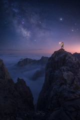 Picos de Europa (Pablo RG) Tags: milkyway picos de europa montañas moutains via lactea nikon nature naturaleza sky estrellas noche night